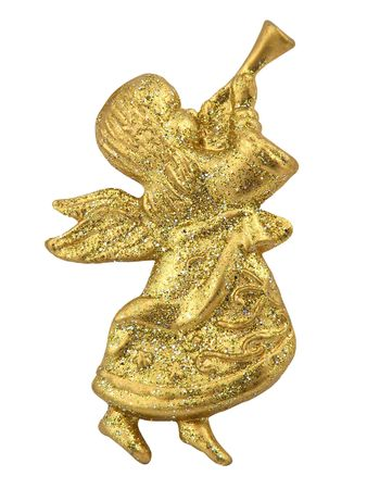 Angel Decorating on Christmas tree