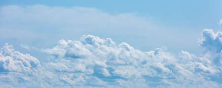 Thick clouds in the sky. Cloudy weather with clouds and clouds. On the sky clouds. 스톡 콘텐츠