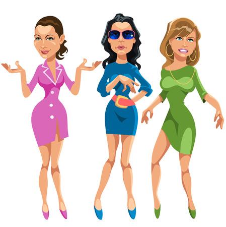 Tres chicas glamorosas