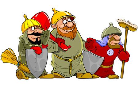 warriors: cartoon funny warriors bogatyrs