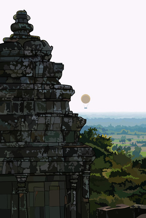 old buildings: Landscape stone old buildings Ankor Wat. Cambodia