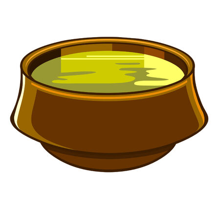 broth: bowl of soup