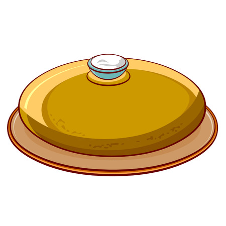 crusty: bread round loaf with salt on a platter