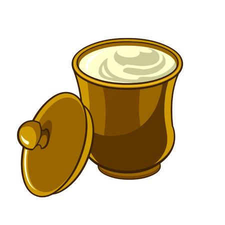 agrio: Jarra con tapa con crema agria