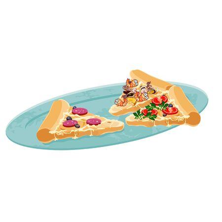 parmigiano: pizza su un piatto