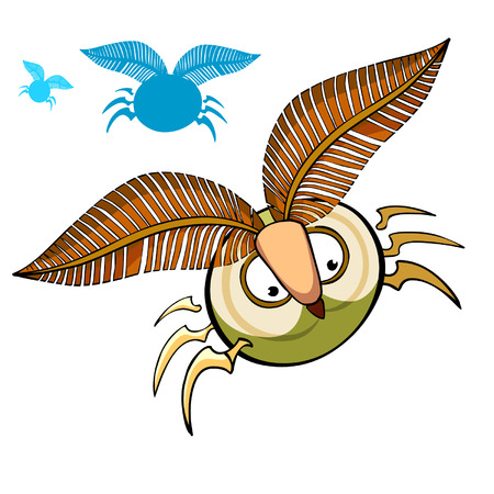eyebrows: cartoon insect with fluffy eyebrows