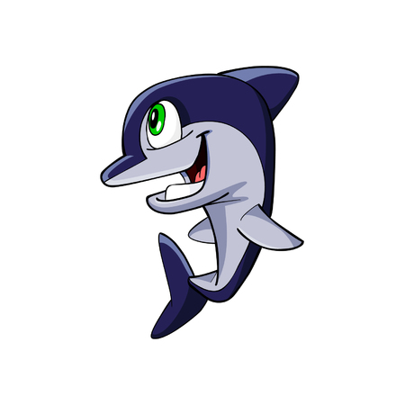 porpoise: dolphin cartoon Illustration