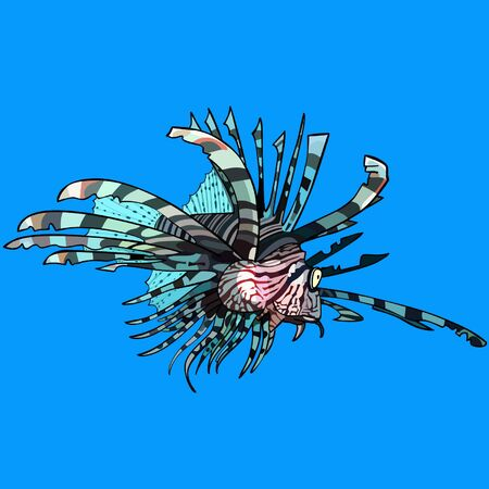cartoon scorpion: cartoon scorpion fish, sea ruff Illustration