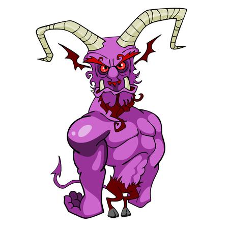 horned: cartoon horned demon