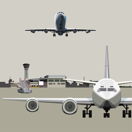 airfield with planes