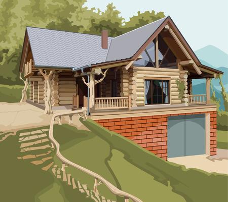 Haus log modernen
