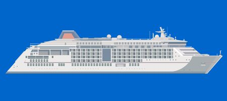 ocean liner: ocean liner on a blue background