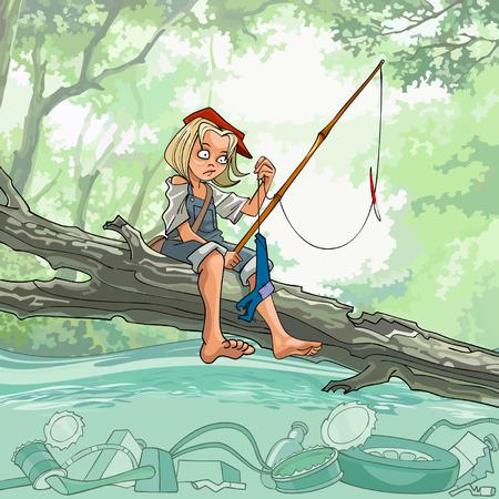Fisherman catches debris