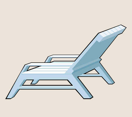 beach side: deck chair Illustration
