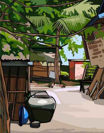 tropics: village in the tropics