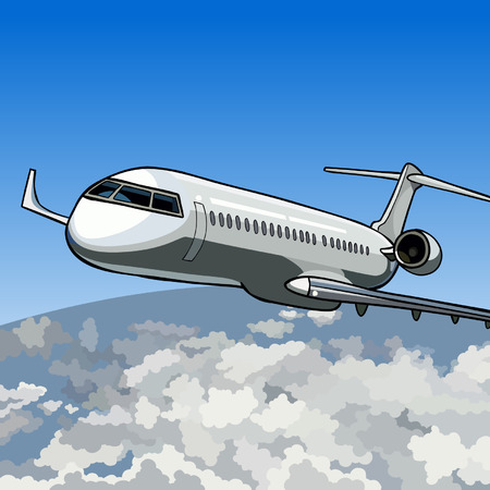 boeing: aircraft flying in the sky above the earth