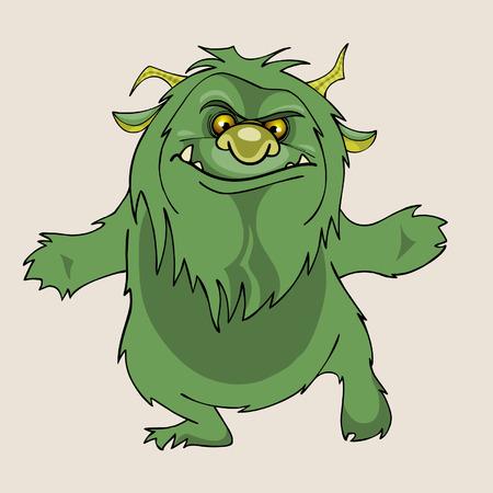 shaggy: cartoon green shaggy beast