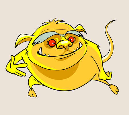 surprisingly: cartoon yellow smiling beast