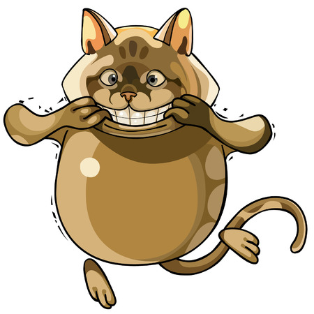 toothy: toothy smiling cartoon cat