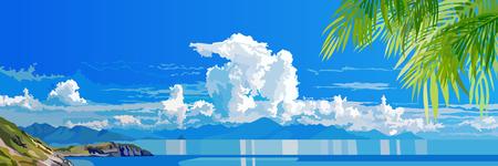 Panorama of tropical sea coast