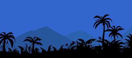tropics: landscape night in the tropics