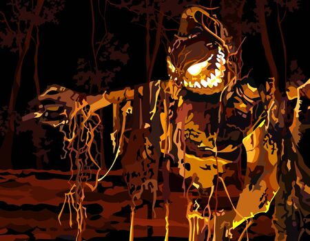 luminous: luminous stuffed in a dark forest Illustration