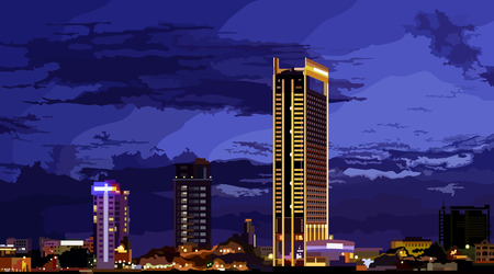 tallest: tallest building in the night city Illustration