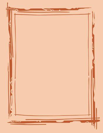 outline drawing: telaio contorno disegno