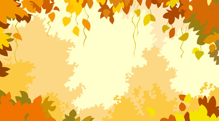 autumn background: background with autumn leaves