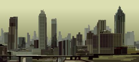 general: general view of the city with skyscrapers