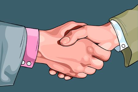 shaking: cartoon male hands shaking