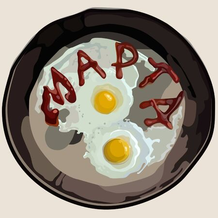 march 8: March 8 from the eggs in a pan
