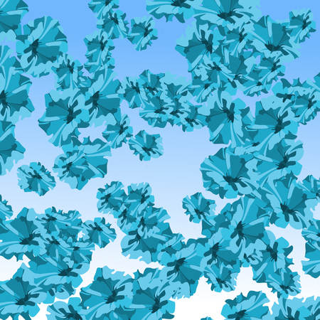 background abstract blue flowers