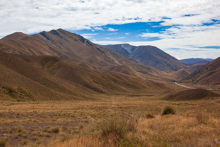 Lindis Pass Viewpoint, South Island, New Zealand