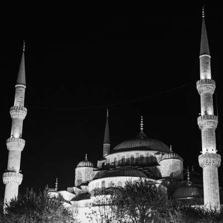 Sultan Ahmed Mosque, at Night, Instanbul, Turkey Archivio Fotografico