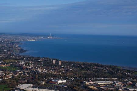 View of Belfast Bay, Northern Ireland UK