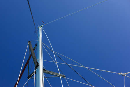 Sailing Boat Mast, Queensland, Australia 写真素材