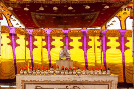 Temple in Banwaripur, Rajasthan, India Zdjęcie Seryjne