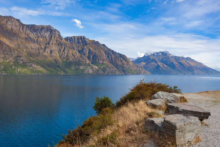 View of Lake Wakatipu, South Island, New Zealand