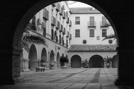 Courtyard in Jaen, Andalusia, Spain 写真素材