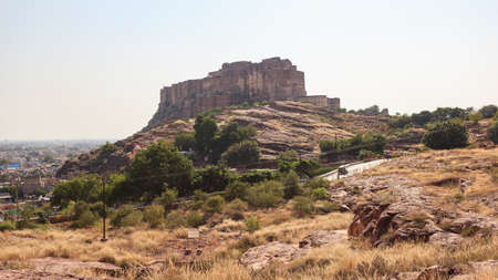 View of Jodhpur Fort from Jaswant Tanda Mausoleum, Jodhpur, Rajasthan, India
