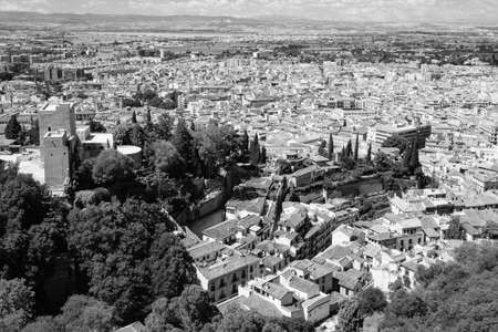 Alhambra - Fortress and view of Albacin, Granada, Spain