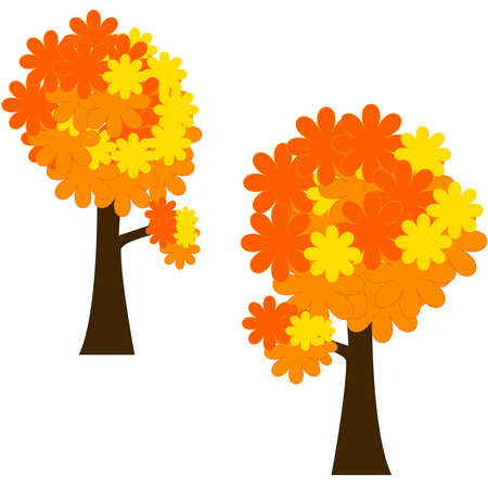Autumn tree with stylised leaves - clip art Stock Vector - 7671564