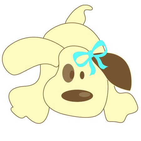Light cartoon dog Vector