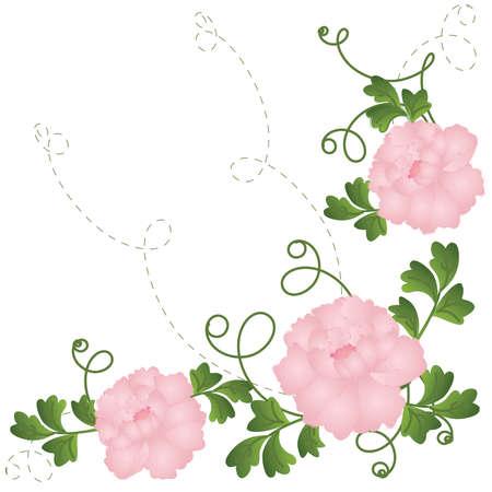 Roses decor element - format Vector