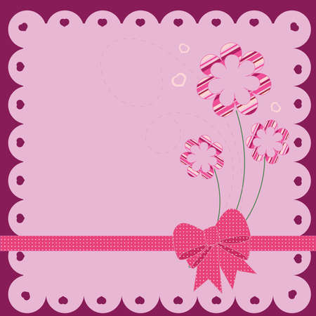 Scrapbook designed card Vector