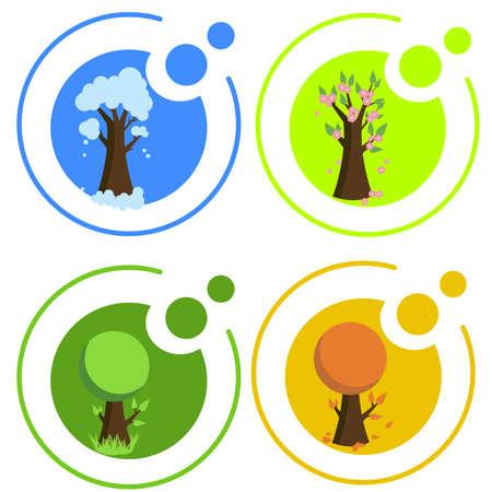 Seasonal icons Vector