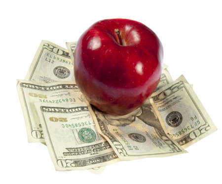 Cost of education, food, or health care.  Studio shot on a white background. Stock Photo - 5661415