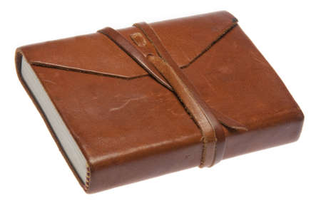 An old leather journal Stock Photo - 5948294