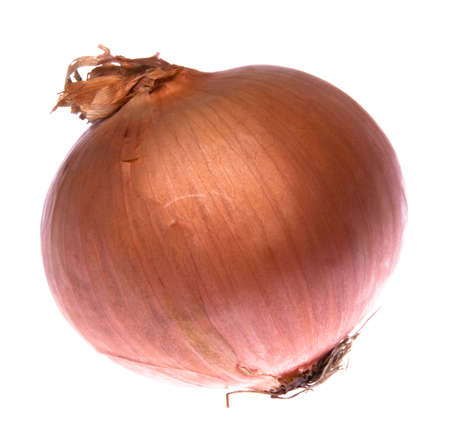 persona: Onion with personality isolated on a white background. Stockfoto